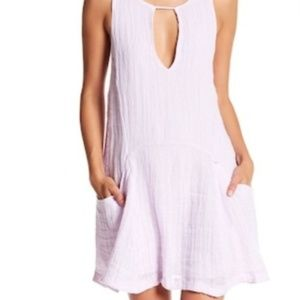Free People Lavender Keyhole Dress With Pockets